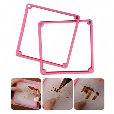 Cookie Decorating Stencil Frame,Magnetic Stencil Genie Frame 2 Different Thicknesses Stencil Holder