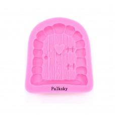 Palksky House Cartoon Door Mushroom Cake Decor Fondant Mould Chocolate Mold Tool