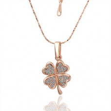 Palksky Four Leaf Clover Necklace Chain ——18K Rose Gold Valentine's Day gift Christmas gift