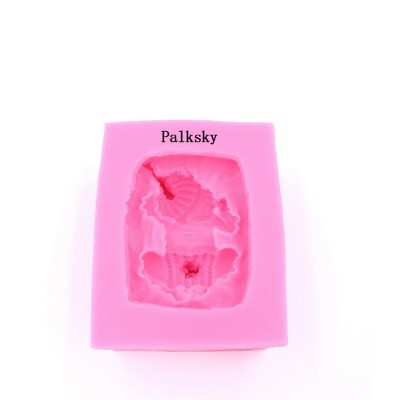 Palksky Sleeping Baby Candy Making Mold Fondant Mold Silicone Mold for Baby Shower Party Birthday Party Cake Decoration
